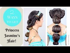 2 Ways to Get Princess Jasmine's Hair One way is super easy and one is a little more elaborate for all of you who want to rock this Halloween.