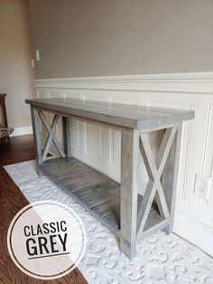 Diy Entryway Table, Farmhouse Entryway Table, Farmhouse Furniture, Farmhouse Decor, Rustic Console Tables, Diy Furniture Plans, Diy Furniture Projects, Home Furniture, Furniture Storage