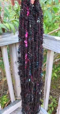 Handspun Yarn Art Yarn Bulky Lockspun by RainbowTwistShop on Etsy
