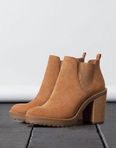 elastic heeled ankle boot - Shoes - Bershka United Kingdom