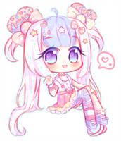Chibi comm for oimayo ///this was supposed to be a halfbody//sorry again ; Dibujos Anime Chibi, Cute Anime Chibi, Kawaii Chibi, Kawaii Anime Girl, Kawaii Art, Bff Drawings, Anime Girl Drawings, Cute Kawaii Drawings, Pretty Anime Girl