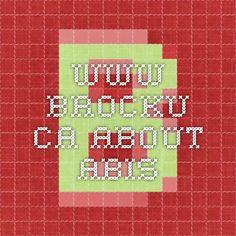 www.brocku.ca About ABIs