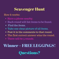 LuLaRoe Scavenger Hunt  Rules FREE LEGGINGS  LuLaRoe Michelle Womack