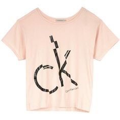 Calvin Klein Ck Jeans Logo Crop T-Shirt Light Pink (885 UAH) ❤ liked on Polyvore featuring tops, t-shirts, light pink, crop top, logo t shirts, short sleeve tee, short sleeve t shirts and light pink top