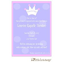 Lavender Dot Princess Baby Shower Invitation From Little Angel Announcements