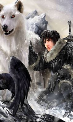 Game of Thrones - Jon and Ghost