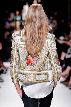 Embellished jacket with black pants- Style
