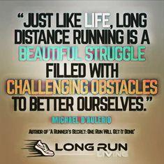 Marathon Quotes To Develop A Marathon Mindset - Long Run Living - Running = beautiful struggle Fit Girl Motivation, Running Motivation, Fitness Motivation, Fitness Tips, Marathon Motivation, Fitness Exercises, Fitness Quotes, Trail Running Quotes, Running Tips