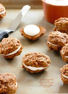 Soft - Baked Carrot Cookie Sandwiches
