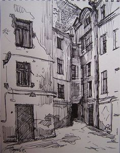 Architectural sketches 177188566580975825 - 28 Ideas landscaping sketch mixed media Source by llorem Landscape Sketch, Landscape Drawings, Landscape Paintings, Collage Landscape, Urban Landscape, Pen Sketch, Drawing Sketches, Cool Drawings, Cityscape Drawing