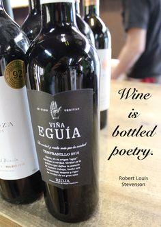 """Wine is bottled poetry."" quote from Robert Louis Stevenson  #wine #poetry"
