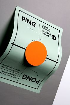 Ping Pong Night Identity at NDSM, Amsterdam3 table sizes from the top + readable up and down. Playful stickers with you can customise & find your on game.200grms color paper / digital print / fluorescent stickers