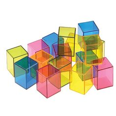 Rainbow Crystal Cubes - perfect for the light table and light play #ULTG  See them on Caution! Twins at Play Blog or The Ultimate Light Table Guide!