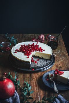 Mascarpone Cheesecake with Pomegranate Syrup Recipe