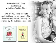 Giveaway of a $350 gift card to @noritakechina  from Ramshackle Glam