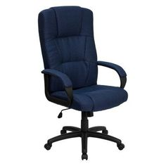 Flash Furniture High Back Executive Office Chair Navy - BT-9022-BL-GG