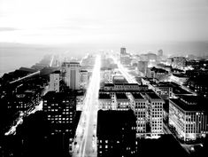 1. This was the stunning night view from Smith Tower in Seattle, 1937.