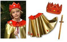 cape n crown Boy Dress Up Clothes, Dress Up Outfits, Dress Up Costumes, Cute Costumes, Halloween Costumes, Fancy Dress For Kids, Kids Dress Up, Childrens Dressing Up Clothes, Nativity Costumes