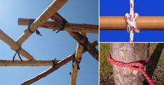 Conoce cuáles son los nudos y amarres más utilizados en las construcciones ecológicas.