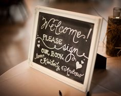 Guestbook Chalkboard - Calligraphy by Carrie