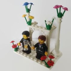 Gay Wedding Cake Topper Lego sposo e lo sposo di HeartOfBricks