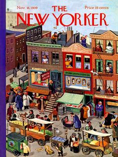 "'Main Street' jigsaw puzzle reproduced from the cover of The New Yorker magazine. This classic cartoon is from the Nov. 18, 1939 issue.1000 piecesFinished size: 20"" x 27"""