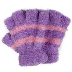 Autumn Half Stretch Gloves Children Mittens Winter Velvet Boys Striped Hands Baby Mittens Warmer Kids Coral Finger Girls Mittens