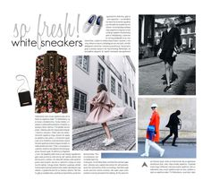 """""""Thursday afternoon dress with sneakers!"""" by mgoslin ❤ liked on Polyvore featuring Oris, Jagger, The Row, Keds, sneakers and whitesneakers"""