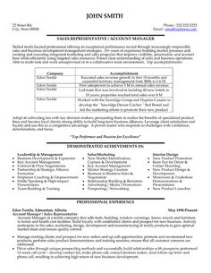 click here to download this sales representative or account manager resume template http