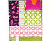 Baby Quilt , Patchwork Quilt , Play Mat , Stroller Liner , Bedding Hula Hula. $125.00, via Etsy.