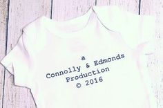 Production Onesie, Baby Boy Coming Home Outfit, Baby Girl Coming Home Outfit, Unisex Baby Gift, Gender Neutral, Custom Onesie, Color Options by TheCheekyGreek on Etsy https://www.etsy.com/listing/245994736/production-onesie-baby-boy-coming-home