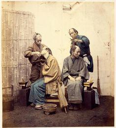Pelo y barba. Fotos antiguas de Japón