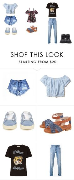 """""""mother and daughter and daddy day"""" by sladams3 ❤ liked on Polyvore featuring beauty, Hollister Co., Yves Saint Laurent, Bardot Junior, Gucci, Dolce&Gabbana and Jimmy Choo"""