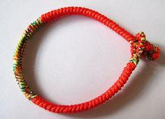 DIY string bracelet making