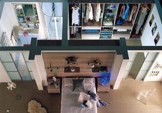 Chambre avec dressing et salle de bain derrière + portes coulissantes ! LOVE this !