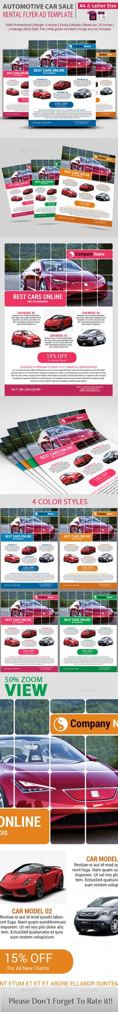 Exclusive Car Rental Flyer Template Flyer Templates $800 - car ad template