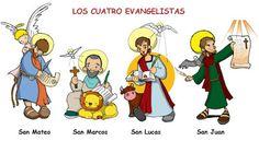 LOS CUATRO EVANGELISTAS Dibujos para catequesis
