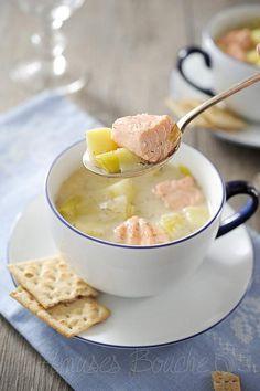 Soupe crémeuse de saumon