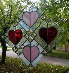 Stained+Glass+Window+Large+Suncatcher+Valentine+Red+Pink+Hearts+&+Bevels