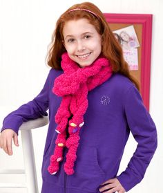 Easy-Enough-for-a-Child Chain Scarf