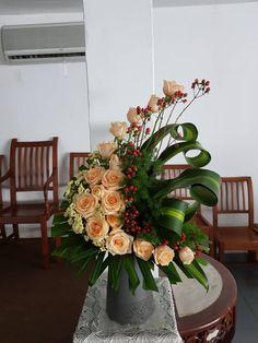 """C"" shape Tropical Flower Arrangements, Modern Floral Arrangements, Flower Arran…"