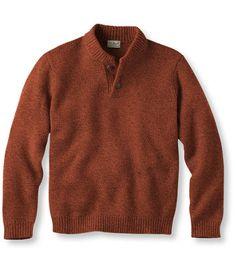Bean's Classic Ragg Wool Sweater, Henley: Henleys and Zip-Necks | Free Shipping at L.L.Bean