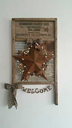 Hey, I found this really awesome Etsy listing at https://www.etsy.com/listing/285600305/rustic-primitive-vintage-washboard-decor