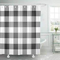 120 buffalo check shower curtains ideas