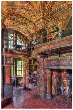 The Library at Fonthill Castle :: This and the Mercer Museum & the Tile Works are all absolutely amazing. Henry Mercer was quite a man. Mercer Museum, Places To Travel, Places To See, Beautiful Buildings, Beautiful Places, Abandoned Places, Architecture, Nature Photography, Scenery