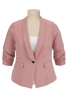 Blazer with Cinched Dot Cuff available at #Maurices