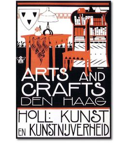 Arts and Crafts poster, The Hague