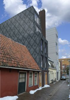 design, architecture in intercity of Groningen,