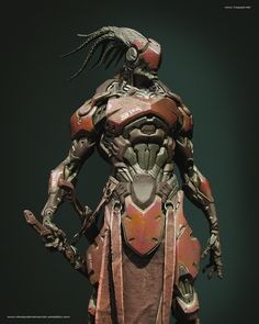 Digging this cyborg samurai by ZBrush artist MIKALAI DZEMIANTSEVICH