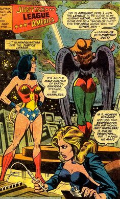 C'mon ladies, keep it in perspective... Justice League of America #151 (1978) by Gerry Conway & Dick Dillin, inked by Frank McLaughlin.